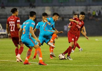 Hero I-League match action between Indian Arrows and Shillong Lajong FC. (Photo courtesy: Shillong Lajong FC)
