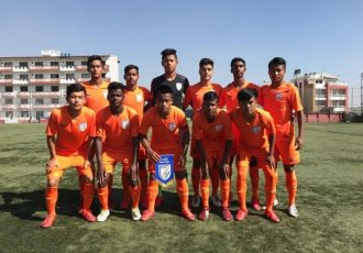 The India U-15 national team at the SAFF U-15 Championship 2018. (Photo courtesy: AIFF Media)