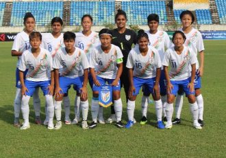 The Indian Women's national team at the 2020 AFC Women's Olympic Qualifying Tournament. (Photo courtesy: AIFF Media)
