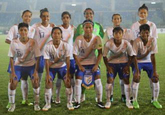 The Indian Women's national team at the 2020 Olympic Qualifiers. (Photo courtesy: AIFF Media)