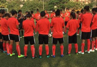 The India Women's national team during a training session. (Photo courtesy: AIFF Media)