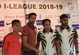 Pre-match press-conference ahead of the Hero I-League encounter Indian Arrows vs Mohun Bagan AC. (Photo courtesy: AIFF Media)