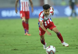 Komal Thatal in action for ATK in the Hero Indian Super League. (Photo courtesy: AIFF Media)