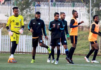 Minerva Punjab FC training session. (Photo courtesy: AIFF Media)