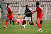 Mohammedan Sporting Club's Philip Adjah Tetteh in action against BSF Jalandhar in the Bordloi Trophy 2018. (Photo courtesy: Mohammedan Sporting Club)