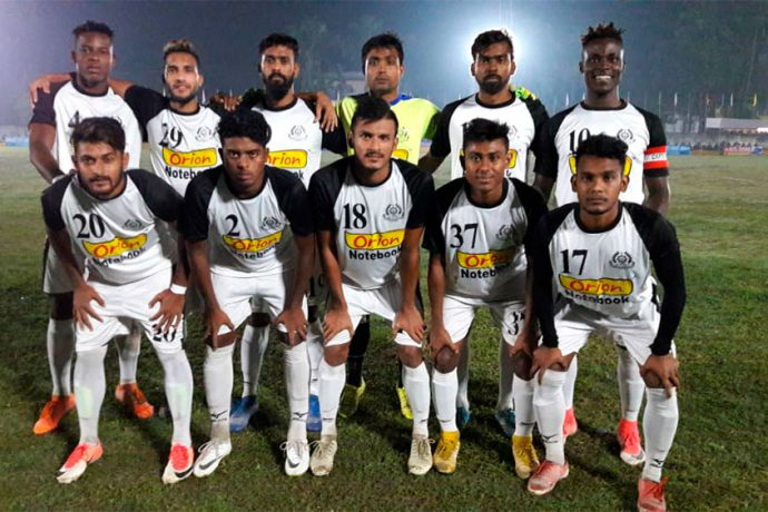 Mohammedan Sporting Club players ahead of their Bodoland Martyrs Gold Cup match against Daimalu FC. (Photo courtesy: Mohammedan Sporting Club)
