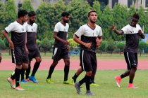 Mohammedan Sporting Club players during a training session. (Photo courtesy: Mohammedan Sporting Club)
