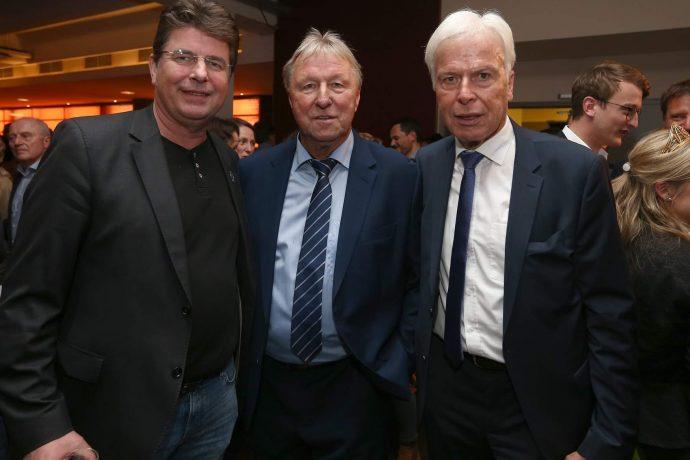 Roland Bischof, Horst Hrubesch and Rainer Holzschuh. (Photo courtesy: Deutscher Fußball Botschafter)