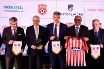 Representatives of the Tata Football Academy (TFA), Tata Trusts and LaLiga side Atlético de Madrid. (Photo courtesy: Tata Steel)