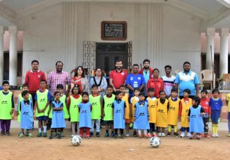 Jamshedpur FC open their 4th Football School in association with DBMS High School in Kadma. (Photo courtesy: Jamshedpur FC)