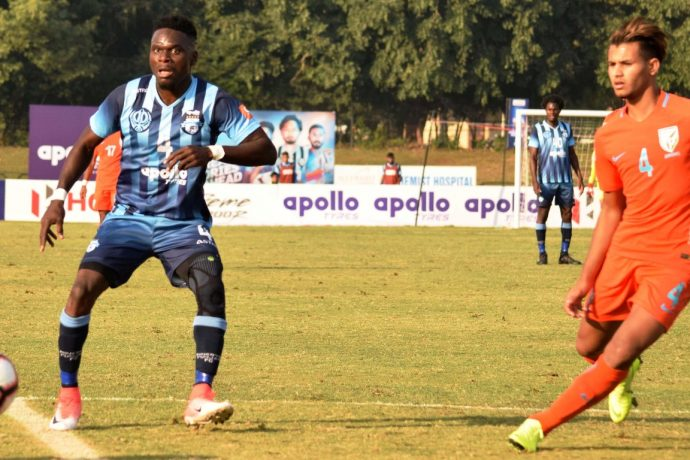 Hero I-League match action between Minerva Punjab FC and Indian Arrows. (Photo courtesy: AIFF Media)