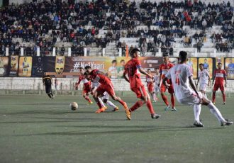 Mizoram Premier League (MPL) match action between Mizoram Police and Aizawl FC. (Photo courtesy: Mizoram Football Association)