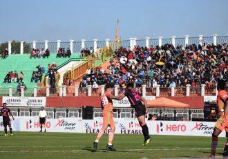 Hero I-League match action between NEROCA FC and Minerva Punjab FC. (Photo courtesy: AIFF Media)