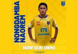 Kerala Blasters FC announce the signing of India junior Nongdamba Naorem. (Photo courtesy: Kerala Blasters FC)