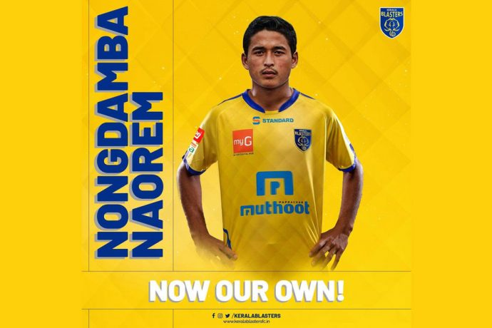 Kerala Blasters FC announce the signing of India junior Nongdamba Naorem. (Photo courtesy: Kerala Blasters FC)