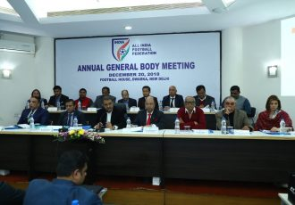 The All India Football Federation's Annual General Body meeting at the Football House in New Delhi. (Photo courtesy: AIFF Media)