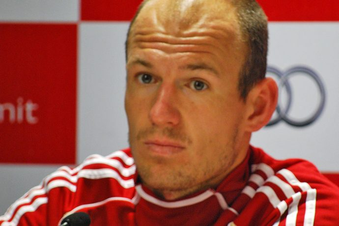 FC Bayern Munich and Netherlands legend Arjen Robben after the Audi Football Summit in New Delhi on January 10, 2012. (© CPD Football)