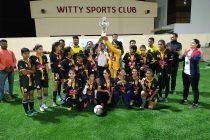 AU Rajasthan FC Women's team celebrating their Rajasthan Women's League title. (Photo courtesy: AU Rajasthan FC)