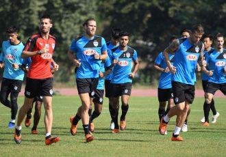 Bengaluru FC's training session in Guwahati, ahead of their clash against NorthEast United. (Photo courtesy: Bengaluru FC)