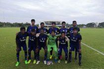 The Chennaiyin FC U-18 moments before their U-18 Youth League match. (Photo courtesy: Chennaiyin FC)