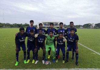 The Chennaiyin FC U-18 moments before their U-18 Youth League match. (Photo courtesy: Chennaiyin FC)
