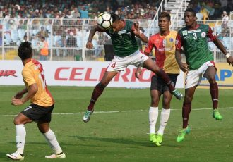 Kolkata Derby between East Bengal FC and Mohun Bagan AC. (Photo courtesy: AIFF Media)