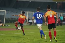 Hero I-League match action between East Bengal FC and Real Kashmir FC. (Photo courtesy: AIFF Media)