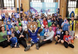 Premier League and students at Brooklyn's PS 254 Dag Hammarskjold School. (Photo courtesy: EVERFI)