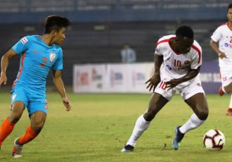 Hero I-League match action between Indian Arrows and Aizawl FC. (Photo courtesy: AIFF Media)