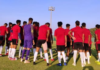 Indian national team training session in Abu Dhabi ahead of the AFC Asian Cup UAE 2019. (Photo courtesy: AIFF Media)