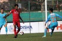 Hero I-League match action between Indian Arrows and Churchill Brothers. (Photo courtesy: AIFF Media)