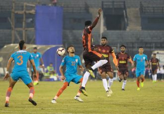 Hero I-League match action between the Indian Arrows and Gokulam Kerala FC. (Photo courtesy: AIFF Media)