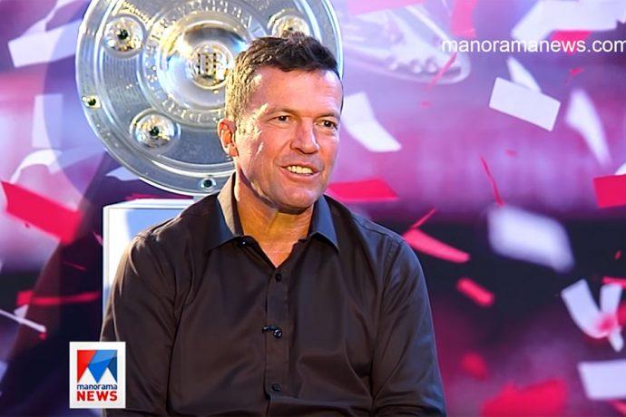 Germany legend Lothar Matthäus during an interview with Manorama News. (Photo courtesy: Screenshot - Manorama News)