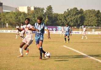 Hero I-League match action between Minerva Punjab FC and Chennai City FC. (Photo courtesy: AIFF Media)
