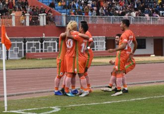 Hero I-League match action between NEROCA FC and Churchill Brothers. (Photo courtesy: AIFF Media)