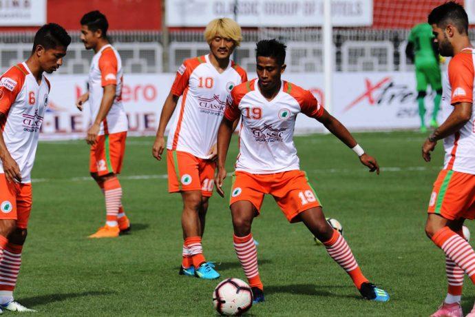 Hero I-League side NEROCA FC. (Photo courtesy: AIFF Media)