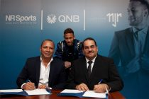 Neymar Silva Santos, Owner of NR Sport & Marketing, Nemar Jr. and Yousef Darwish, General Manager - QNB Group Communications. (Photo courtesy: QNB Group)