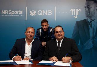Neymar Silva Santos, Owner of NR Sport & Marketing, Nemar Jr. and Yousef Darwish, General Manager - QNB Group Communications. (Photo courtesy: QNB Group)