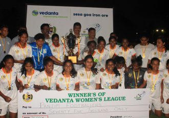2018 GFA Vedanta Women's League champions Panjim Footballers. (Photo courtesy: Goa Football Association)