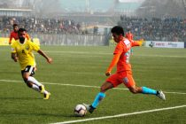 Hero I-League match action between the Indian Arrows and Real Kashmir FC. (Photo courtesy: AIFF Media)
