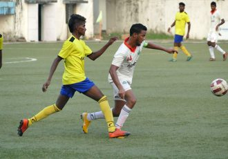 Goa Pro League match action between Sporting Clube de Goa and Panjim Footballers. (Photo courtesy: Vidhant Kadam / Goa Football Association)