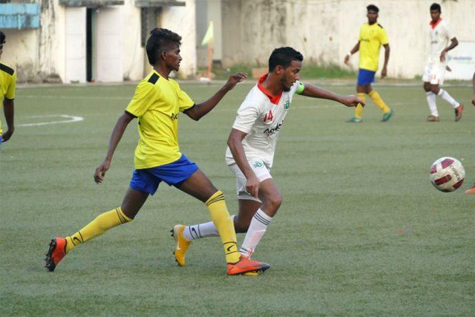 Goa Pro League match action between Sporting Clube de Goa and Panjim Footballers. (Photo courtesy: Vidhant Kadam / Goa Football Association)