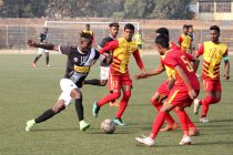 Mohammedan Sporting Club's in action against Rainbow AC in a Hero 2nd Division League match at Barasat Stadium. (Photo courtesy: Mohammedan Sporting Club)