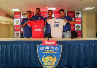 BOOST Chennaiyin FC Football Championship launch press conference on January 18, 2019. (Photo courtesy: Chennnaiyin FC)