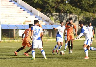 Midfielder Altamash Sayed in action for Bengaluru FC B. (Photo courtesy: Bengaluru FC)