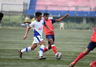 Striker Lalnuntluanga in action for Bengaluru FC B. (Photo courtesy: Bengaluru FC)