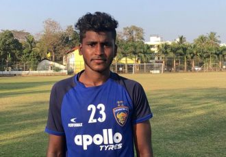 Chennaiyin FC U-18 striker Vijay Thangavel. (Photo courtesy: Chennaiyin FC)