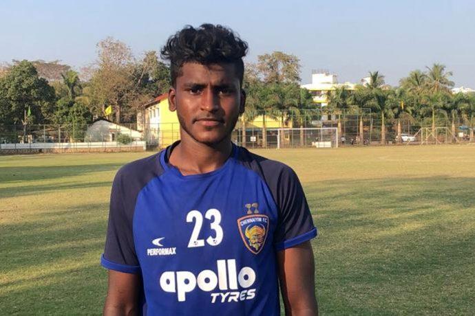 Chennaiyin FC U-18 striker Vijay Thangavel. (Photo courtesy: Chennaiyin FC)