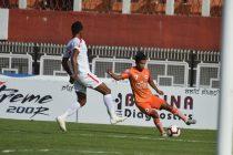 Hero I-League match action between NEROCA FC and Aizawl FC. (Photo courtesy: AIFF Media)