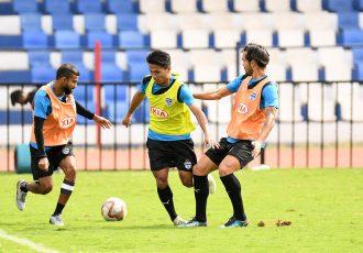 Bengaluru FC training session at the Sree Kanteerava Stadium. (Photo courtesy: Bengaluru FC)